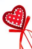 Serce kształtny lizak Zdjęcie Stock