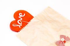 Serce kształtny lizak zdjęcie royalty free