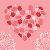 Serce kwiaty Zdjęcie Royalty Free