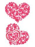 Serce kwiaty 3 Obrazy Stock