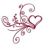 serce kwiecisty Fotografia Royalty Free