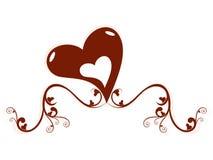 serce kwiecisty kształt Fotografia Stock