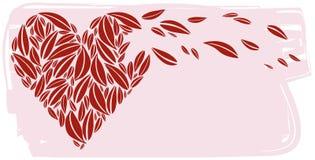 serce liść zrobili czerwieni Obraz Royalty Free