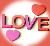 serce listy kochają pisownię ilustracji