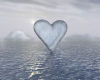 serce lodu obrazy royalty free