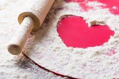 Serce mąka obrazy stock