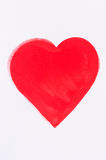 serce malująca czerwień Zdjęcie Stock