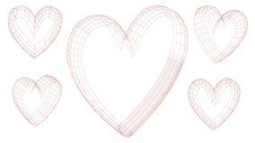 Serce miłość ilustracja - wektor - walentynki ` s dzień - Obraz Royalty Free