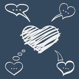 Serce mowy bąble Zdjęcia Stock