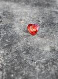 Serce na cementowej podłoga Obrazy Royalty Free