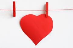 Serce na czerwonej linii Zdjęcia Stock