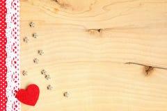 Serce na drewnianym tle Zdjęcie Stock