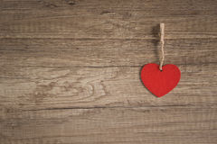 Serce na drewnianym tle obraz stock