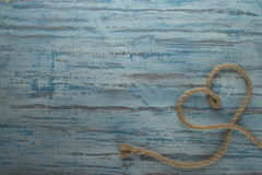 Serce na drewnianym tle Obrazy Stock