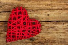 Serce na drewnie Zdjęcie Stock