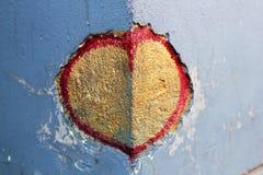 Serce na kącie kamienne ściany Obraz Royalty Free