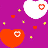 Serce na purpurowym tle ilustracji