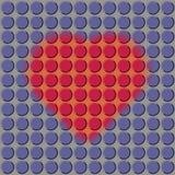 Serce na purpurowym tle dziurkującym Zdjęcie Stock