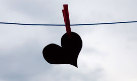 Serce na sznurku Obraz Royalty Free