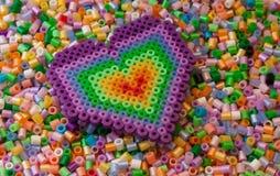 Serce na tło termicznej mozaice obraz stock