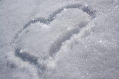 serce śnieg Zdjęcie Stock