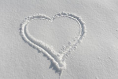serce śnieg Obraz Stock