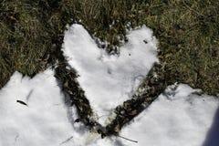 Serce śnieg Zdjęcia Stock