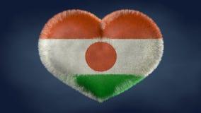 Serce Niger flaga ilustracja wektor