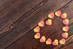Serce od cukierków i kopii przestrzeni Fotografia Royalty Free