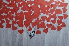 Serce od czerwień papieru Obrazy Royalty Free
