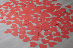 Serce od czerwień papieru Fotografia Royalty Free