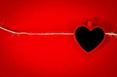 Serce od drewnianej etykietki z arkaną Obrazy Stock