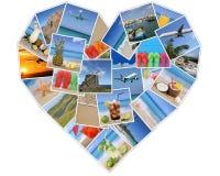 Serce od fotografii na wakacje, plaży, wakacje i traveli, Zdjęcia Royalty Free