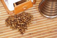 Serce od kawowych adra Zdjęcia Stock