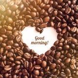 Serce od kawy Zdjęcia Stock