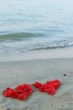 Serce od kwiatów fotografia stock