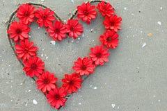 Serce od kwiatów obraz stock