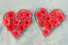 Serce od kwiatów fotografia royalty free