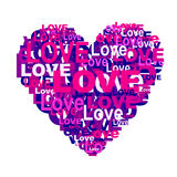 Serce od miłości Fotografia Royalty Free