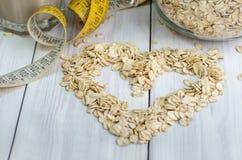 Serce od oatmeal Fotografia Royalty Free