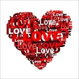 Serce od słowa miłość Zdjęcie Royalty Free
