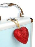 serce odizolowane walizki Zdjęcia Stock