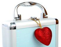 serce odizolowane walizki Obrazy Royalty Free