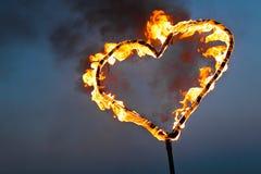 Serce ogień Zdjęcia Royalty Free