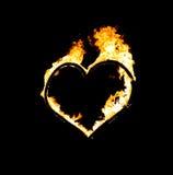Serce ogień Zdjęcie Stock