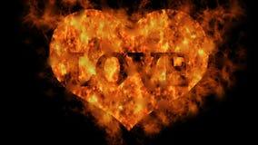 Serce ogień - miłość zdjęcie wideo