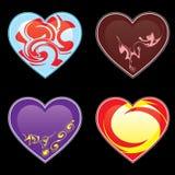 serce ornamenty Zdjęcie Stock