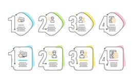 Serce, osoby rozmowa i par ikony ustawia?, 3d medialnego modela znaka og?lnospo?eczny biel wektor ilustracja wektor