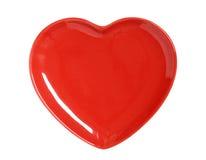 ' serce płytkę czerwony Obraz Royalty Free