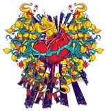 Serce pączki royalty ilustracja
